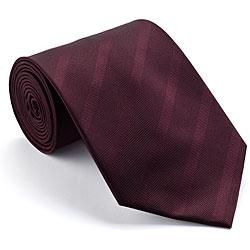 Platinum Ties Men's 'Burgundy Subtle' Striped Tie