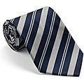 Platinum Ties Men's 'Blue Banister' Striped Tie