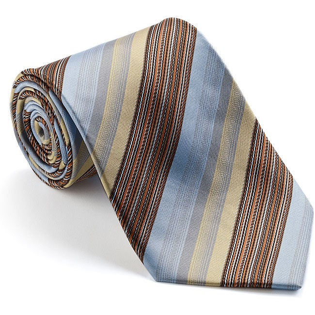Platinum Ties Men's 'Express' Striped Tie
