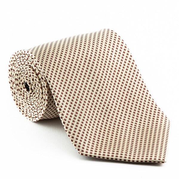 Platinum Tie Men's 'Birch Runner' Striped Tie