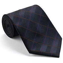 Platinum Ties Men's 'Plum Circuit' Striped Tie