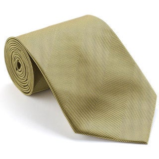 Platinum Ties Men's 'Smooth Gold' Shadow Striped Tie