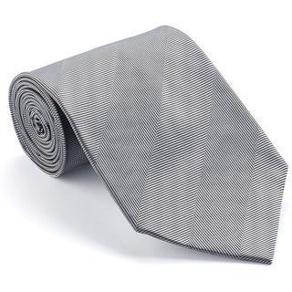 Platinum Ties Men's 'Smooth Silver' Shadow Stripe Tie