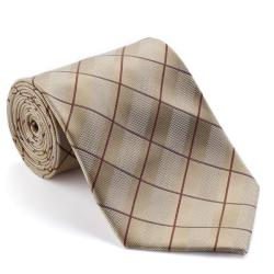 Platinum Ties Men's 'Tan Circuit' Striped Tie