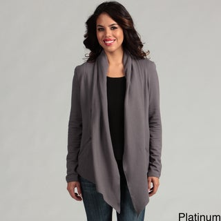 Cino Designer Women's Platinum French Terry Zip Knit Jacket