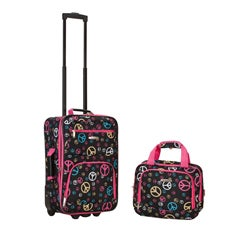 Rockland Deluxe Peace 2-piece Lightweight Expandable Carry-on Luggage Set