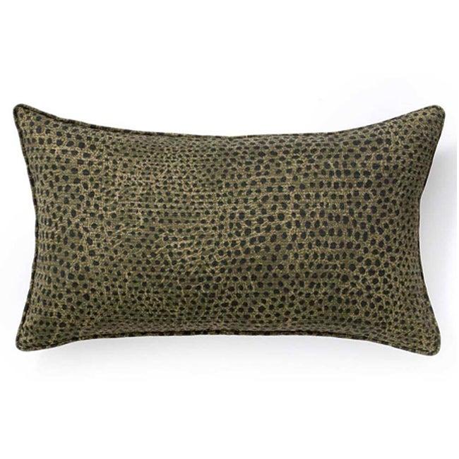Ebony Cheetah Outdoor Throw Pillow