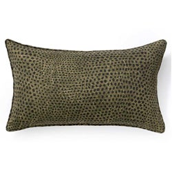 Ebony Cheetah Outdoor Throw Pillow