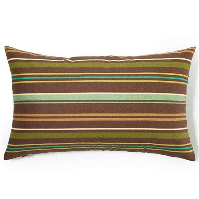 Brown Thin Stripes Outdoor Throw Pillow