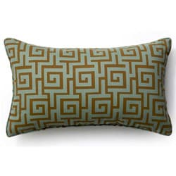 Grey Puzzle Outdoor Throw Pillow