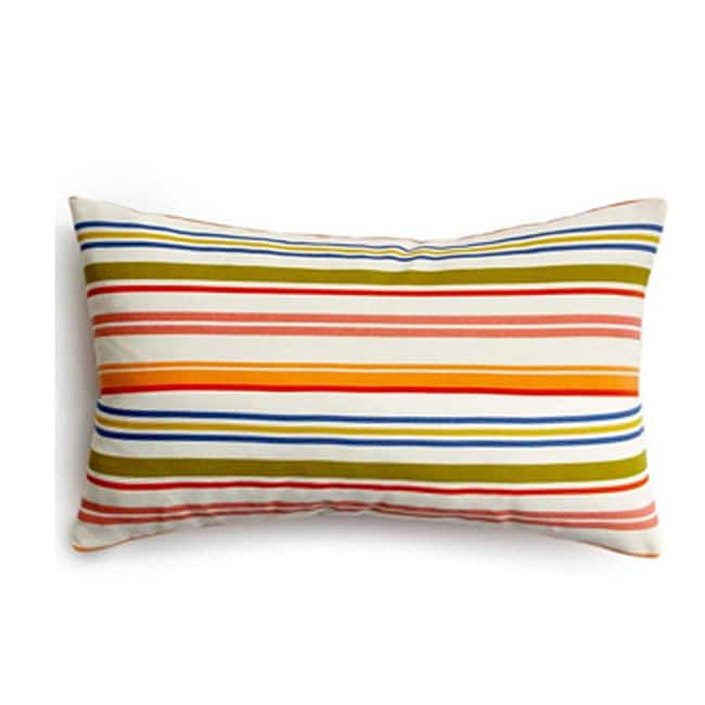 Rainbow Stripes Outdoor Throw Pillow