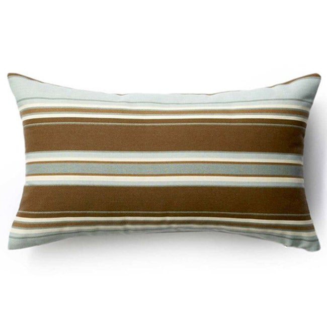 Spa Thick Stripes Outdoor Throw Pillow