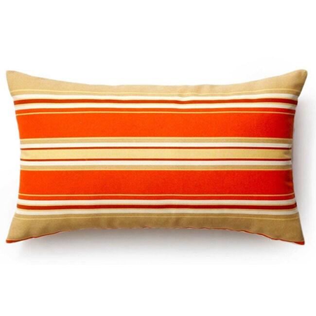 Orange Thick Stripes Outdoor Thow Pillow