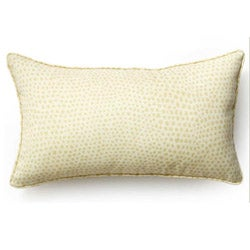 Cream Cheetah Outdoor Throw Pillow