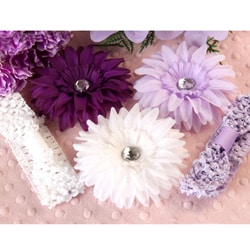 Lavender Daisy 5-piece Headbands Set