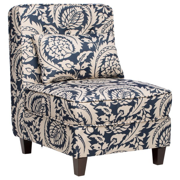 Mattie Tufted Slipper Tan/Navy Print Chair