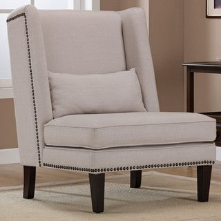Wing Chair Natural Linen