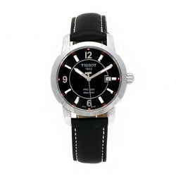 Tissot Men's T0144101605700 T-Sport Black Leather Watch