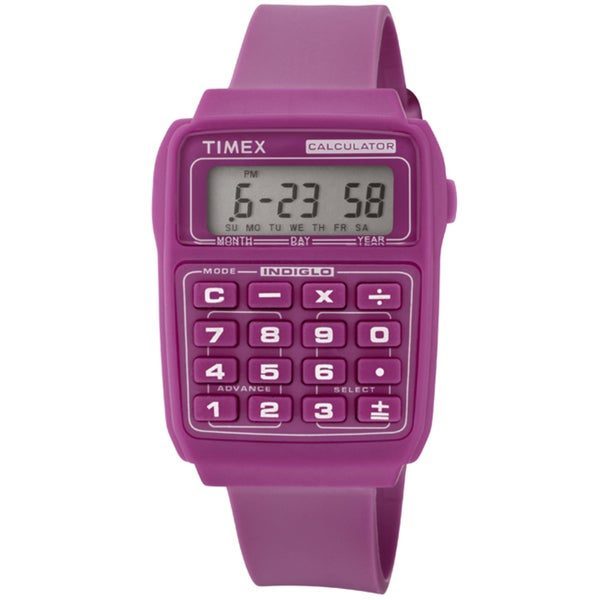 Timex Women's Retro Abigael Calculator Stainless Steel Watch