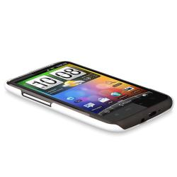 Rear Rubber Coated Case for HTC Inspire 4G/ Desire HD
