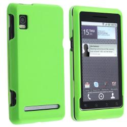 Neon Green Rubber Coated Case for Motorola A955 Droid 2