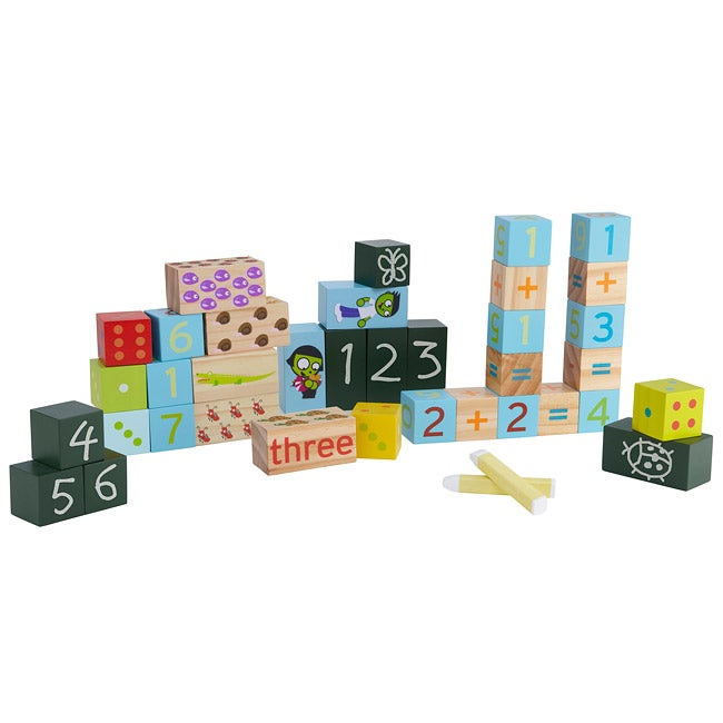 Wood 'Numbers' 34-piece Exploration Blocks Set