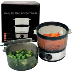 Stainless Steel 4-quart 400-watt Food Steamer