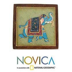 Set of 4 Soapstone 'Parade' Coasters (India)