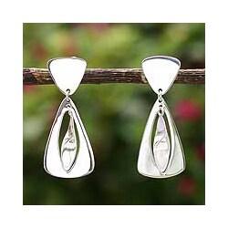 Sterling Silver 'Air' Dangle Earrings (Peru)