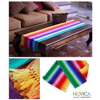 Cotton 'Rainbow Fantasy' Table Runner (Guatemala)