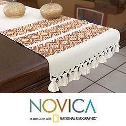 Cotton 'Terracotta Stars' Table Runner (Guatemala)