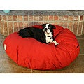 Round Red 42-inch Pet Bed