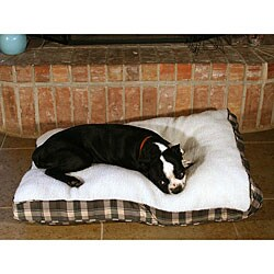 Green Plaid 36-inch Sherpa Pet Bed