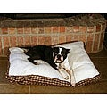 Red Plaid 36-inch Sherpa Pet Bed