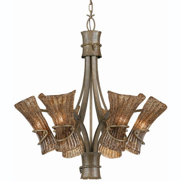 Bali Six Light Tropical Breeze Finish Chandelier Nine Overstock Com Shopping Great Deals