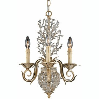 Garland 3-light Gold and Silver Leaf Chandelier