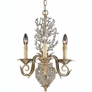 Garland 3-light Gold and Silver Leaf Chandelier