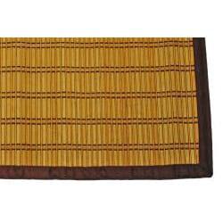 Asian Hand-woven Bold Stripe Bamboo Rug (2' x 3')
