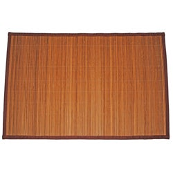 Asian Hand-woven Thin Stripe Bamboo Rug (1'9 x 2'7)