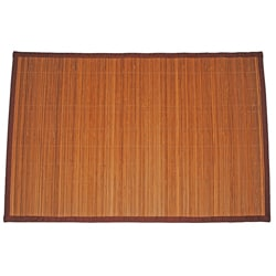 Asian Hand-woven Thin Stripe Rayon from Bamboo Rug (1'9 x 2'7)