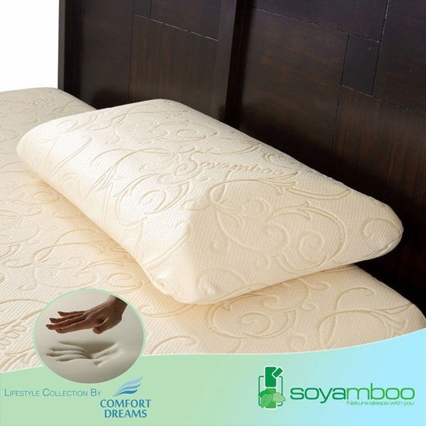 Comfort Dreams Soyamboo Queen-size Memory Foam Pillow