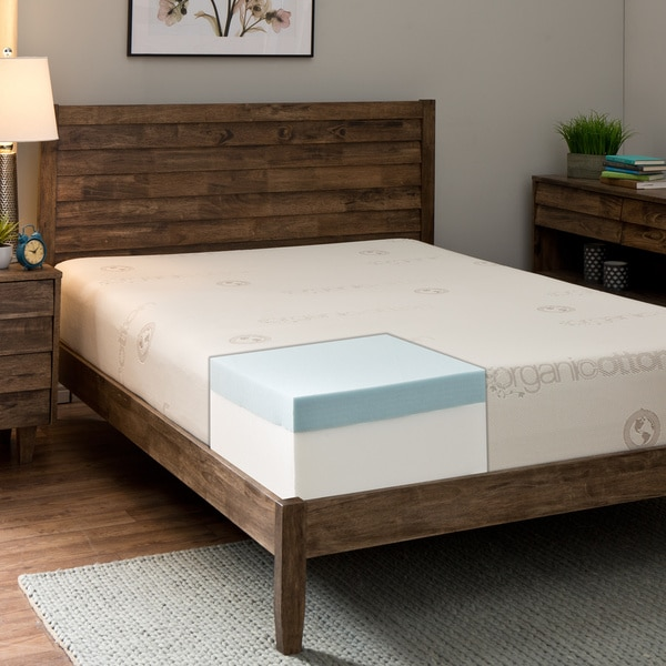 Comfort Dreams Organic Cotton 10-inch Queen-size Memory Foam Mattress