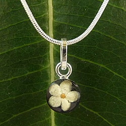 Sterling Silver Elder Flower Small Necklace (Mexico)