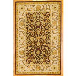 Indo Hand-tufted Brown/ Ivory Wool Rug (3'3 x 5'3)