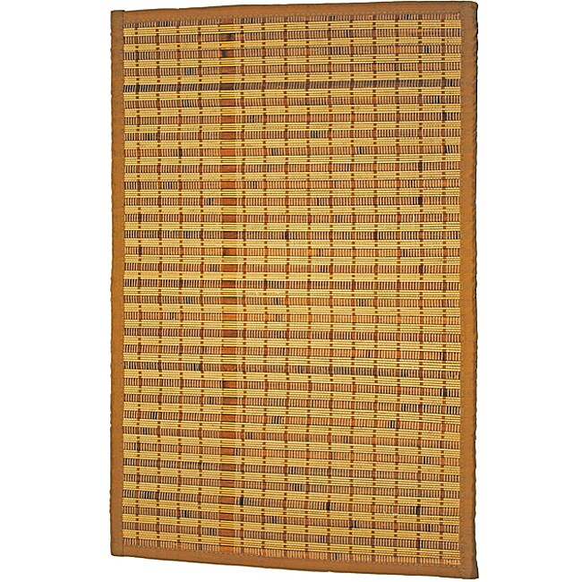 Asian Hand-woven Single Stripe Rayon from Bamboo Rug (2' x 3')