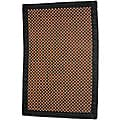 Asian Hand-woven Checkered Bamboo Rug (2' x 3')