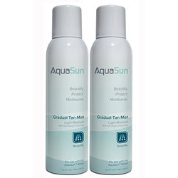 AquaSun 'Light - Medium' Gradual Tan Mist (Pack of 2)