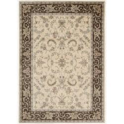 Nourison Gramercy Ivory Brown Wool Blend Rug (5'3 x 7'5)