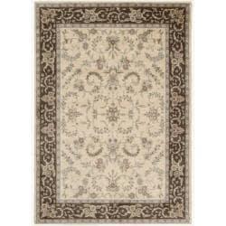 Nourison Gramercy Ivory Brown Wool Blend Rug (5'3 x 7'5)