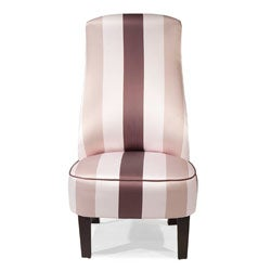 Contemporary Striped Sateen Chair